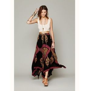 Free People Heart Of Gold Handkerchief Skirt Small
